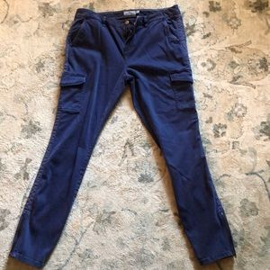 Vineyard Vines relaxed cargo chino, 10, blue, NWOT